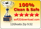 12Ghosts Zip 9.52 Clean & Safe award