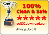 AlwaysUp 6.8 Clean & Safe award