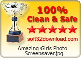 Amazing Girls Photo Screensaver 1.0 : 5 Stars and 'Clean & Safe' Award at soft32download.com !