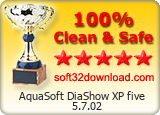 AquaSoft DiaShow XP five 5.7.02 Clean & Safe award