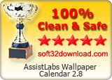AssistLabs Wallpaper Calendar 2.8 Clean & Safe award