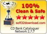 CD Bank Cataloguer Network 2.7.7 Clean & Safe award