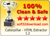 Caterpillar - HTML Extractor 1.2 Clean & Safe award