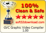 GVC Graphic Video Compiler 1.00 Clean & Safe award