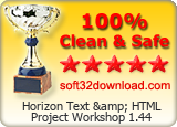 Horizon Text & HTML Project Workshop 1.44 Clean & Safe award
