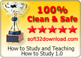 How to Study and Teaching How to Study 1.0 Clean & Safe award