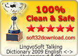 LingvoSoft Talking Dictionary 2009 English <-> Hungarian 4.1.88 Clean &amp; Safe award