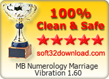 MB Numerology Marriage Vibration 1.60 Clean & Safe award