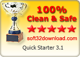 Quick Starter 3.1 Clean & Safe award