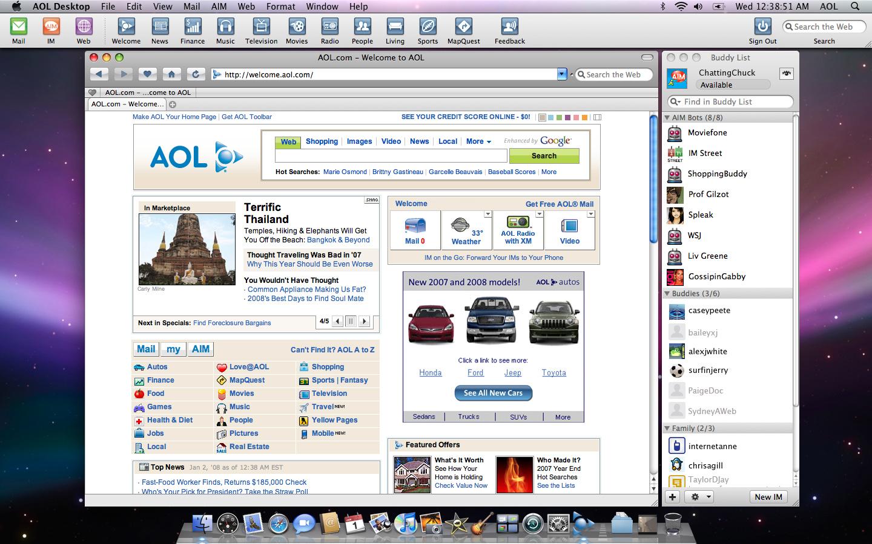 AOL Desktop 1.7.784 Mac software screenshot