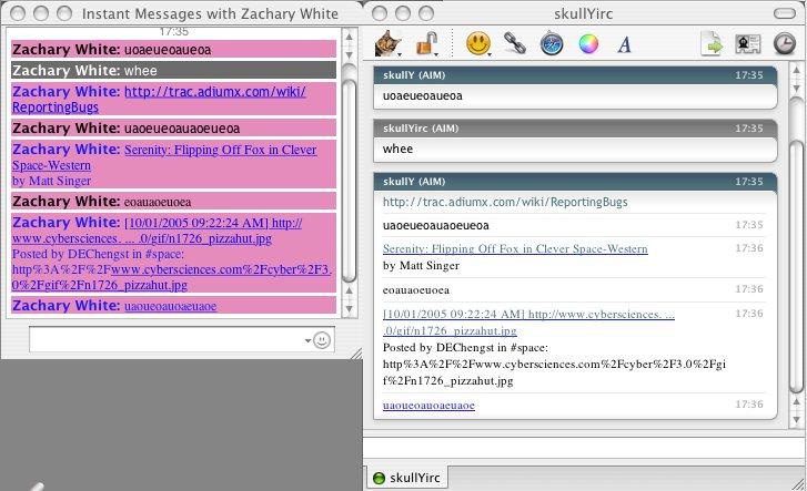 Adium 1.5.10 Mac software screenshot