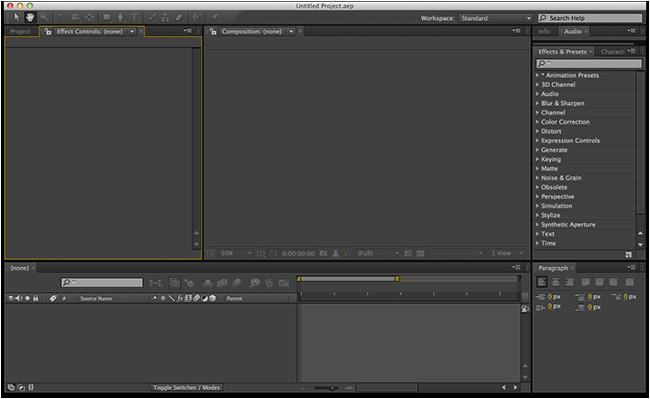 Adobe After Effects CC 2014.0.2 13.0.2 Mac software screenshot
