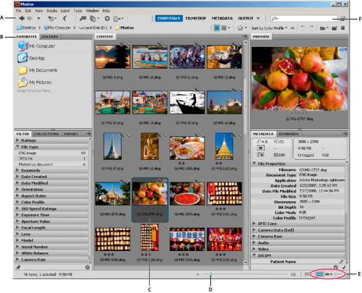 Adobe Bridge CC 6.1.0.115 Mac software screenshot