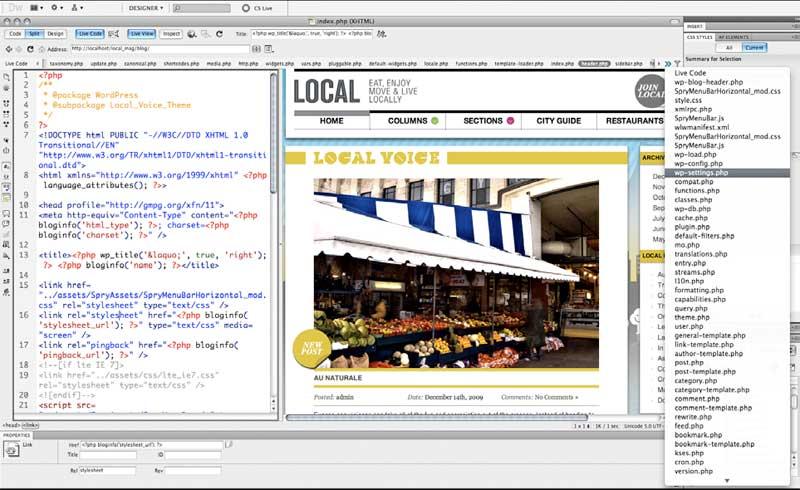 Adobe Dreamweaver CC 2014.0.4733 Mac software screenshot