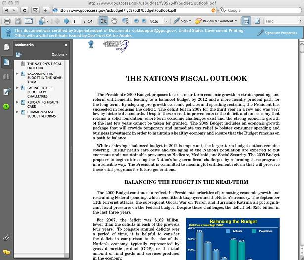 Adobe Reader XI 11.0.07 Mac software screenshot