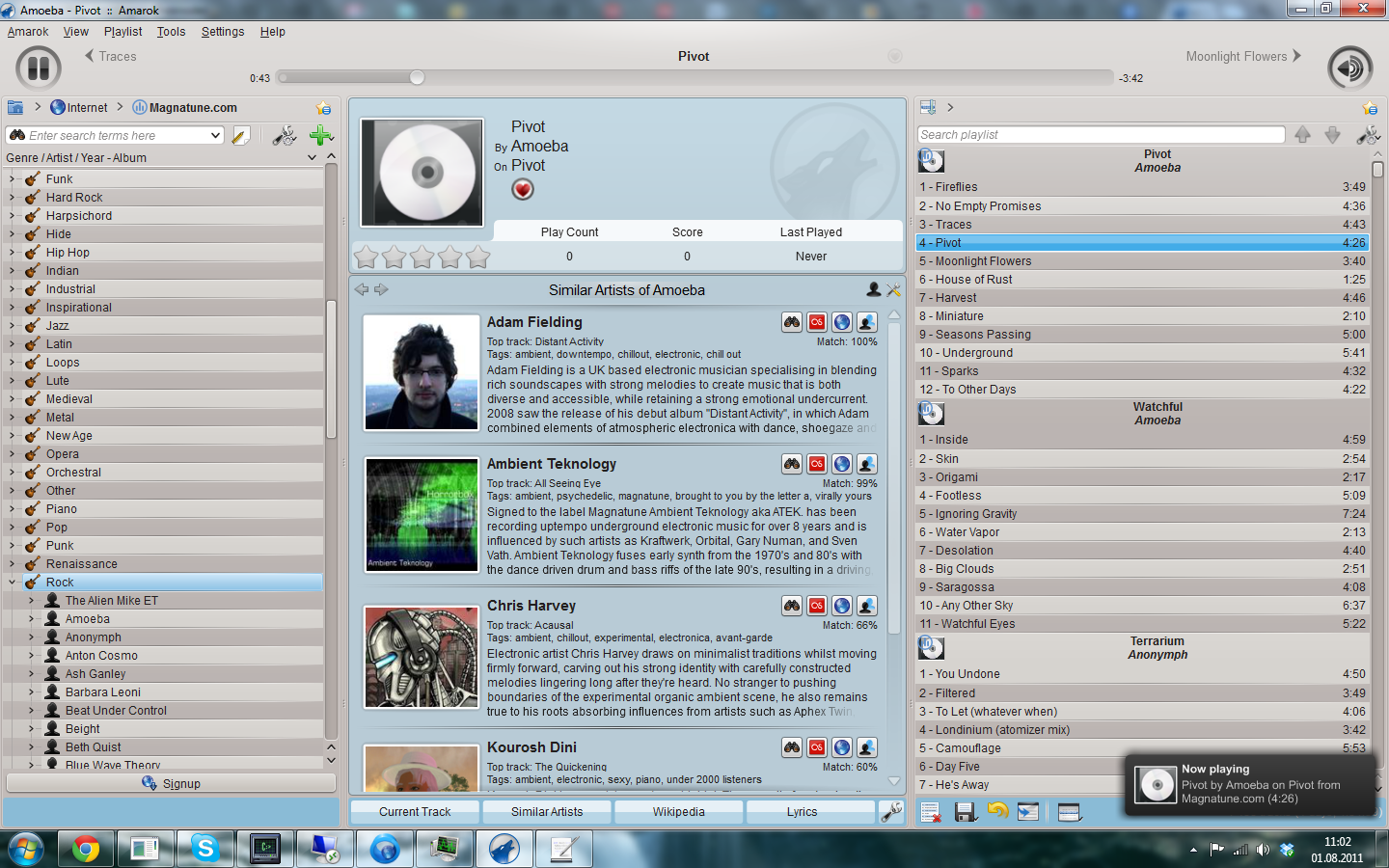 Amarok 2.8.0 Mac software screenshot