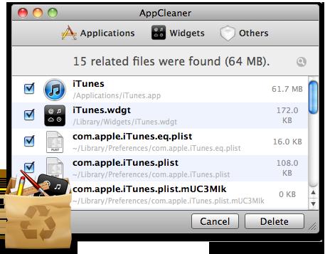 AppCleaner 2.2.1 Mac software screenshot