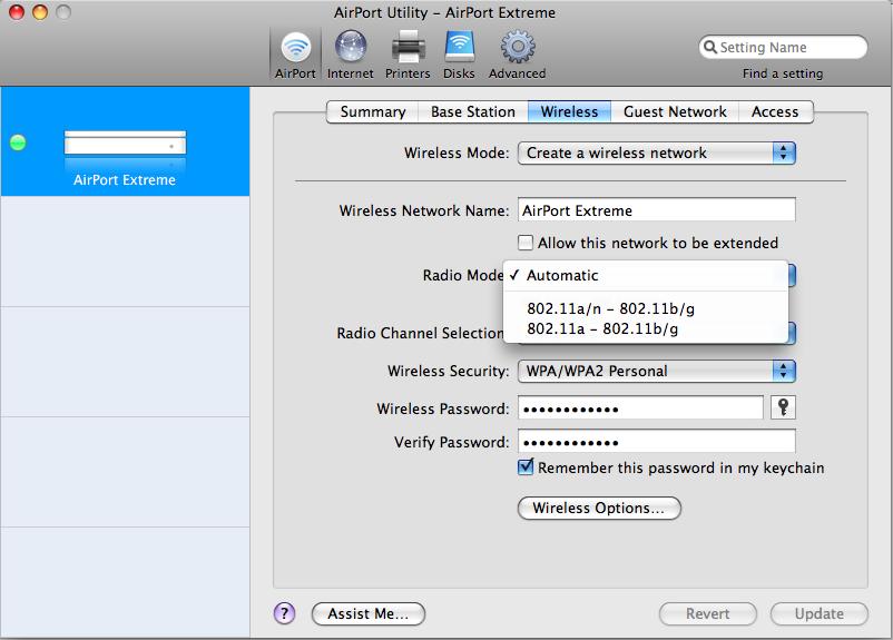 Apple Airport Utility 6.3.1 Mac software screenshot