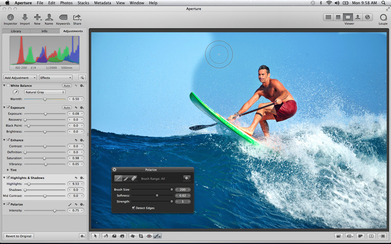 Aperture 3.5.1 Mac software screenshot