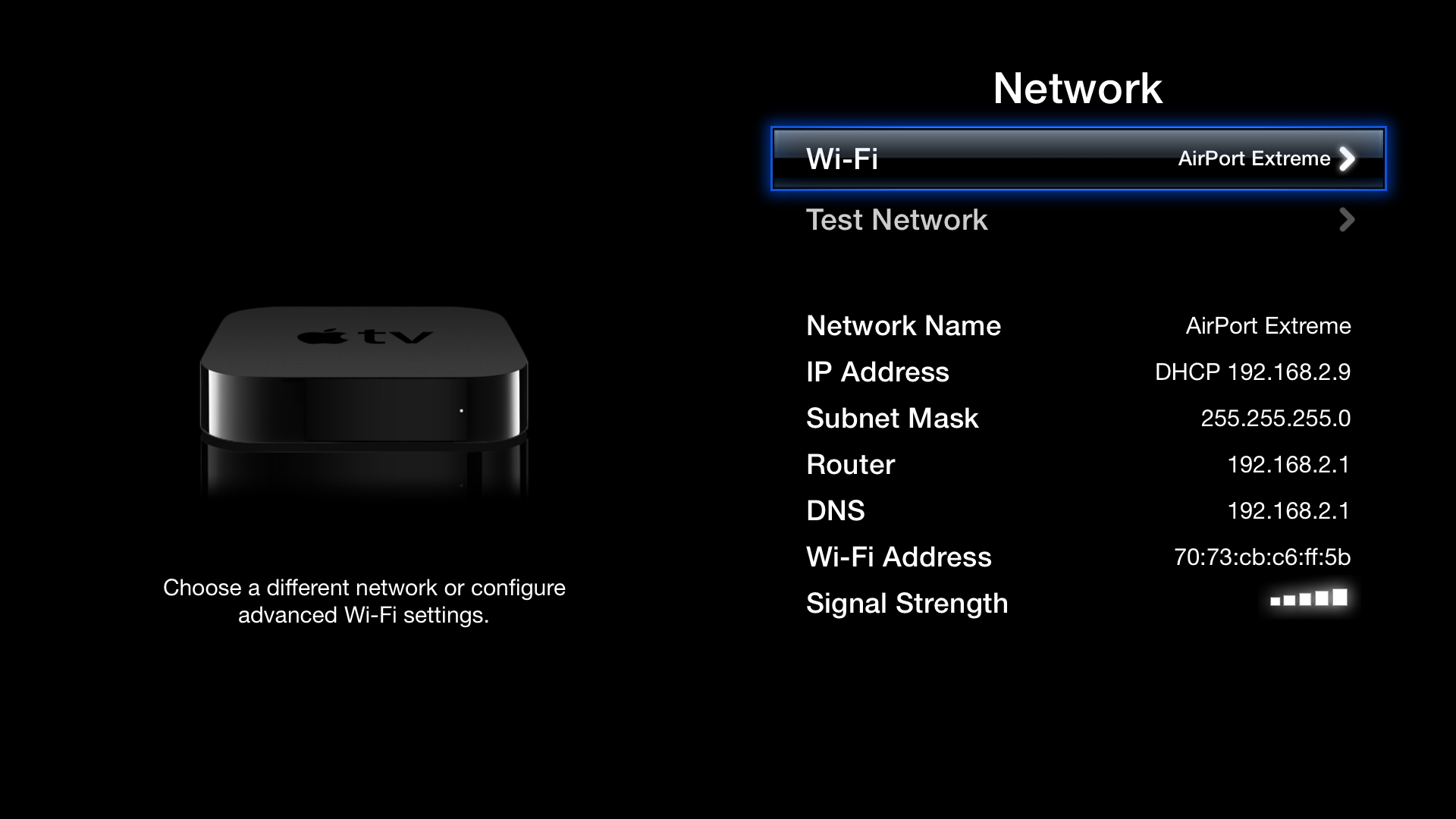 Apple TV Firmware 6.2.11D257c Mac software screenshot