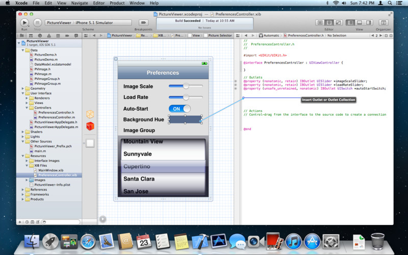 Apple Xcode 5.0.1 Mac software screenshot
