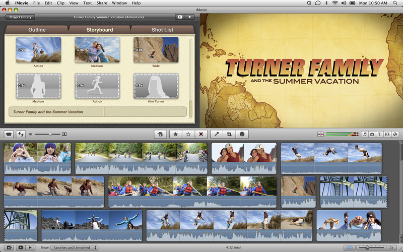iMovie 10.0.5 Mac software screenshot