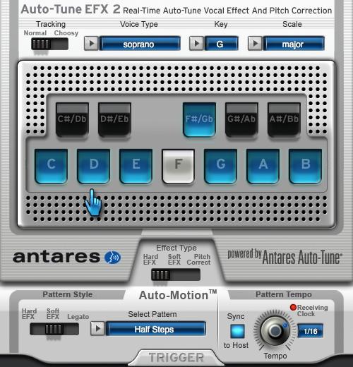 Auto-Tune EFX 2.1.2 Mac software screenshot
