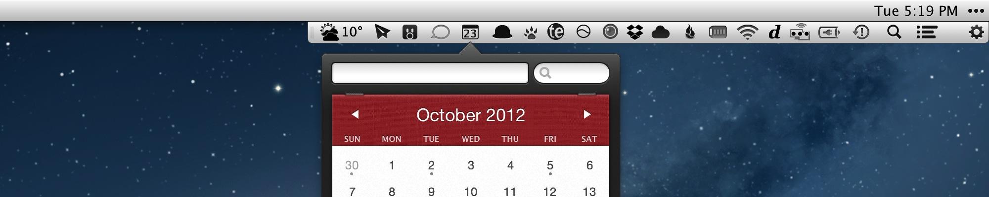 Bartender 4.5.13 Mac software screenshot