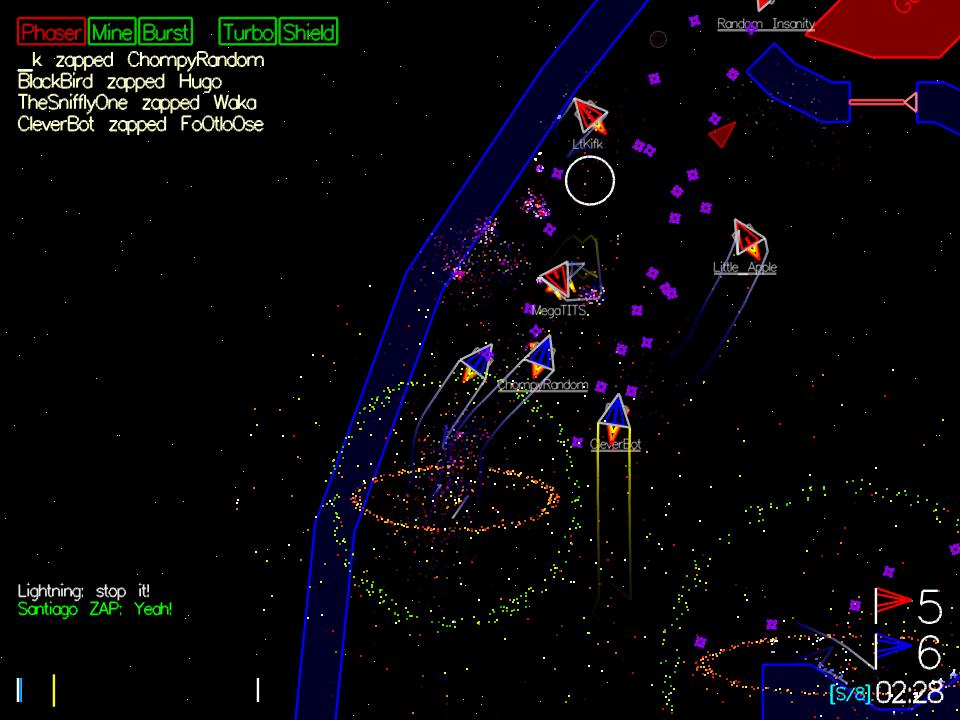 Bitfighter 018a Mac software screenshot