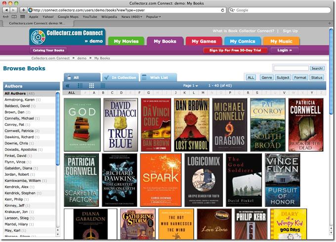 Book Collector 8.2 Build 1 Mac software screenshot