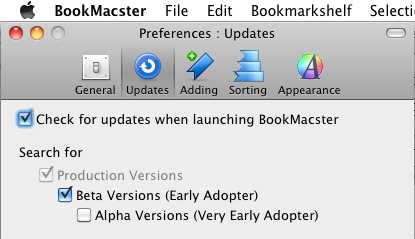 BookMacster 1.13.5 Mac software screenshot