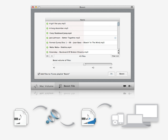 Boom 1.8.1 Mac software screenshot