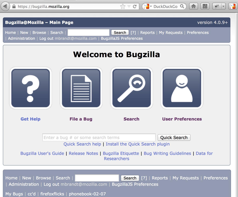 Bugzilla 4.4.5 Mac software screenshot