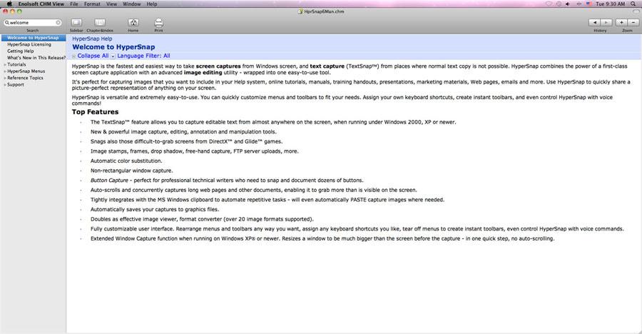 CHM View 2.4.0 Mac software screenshot