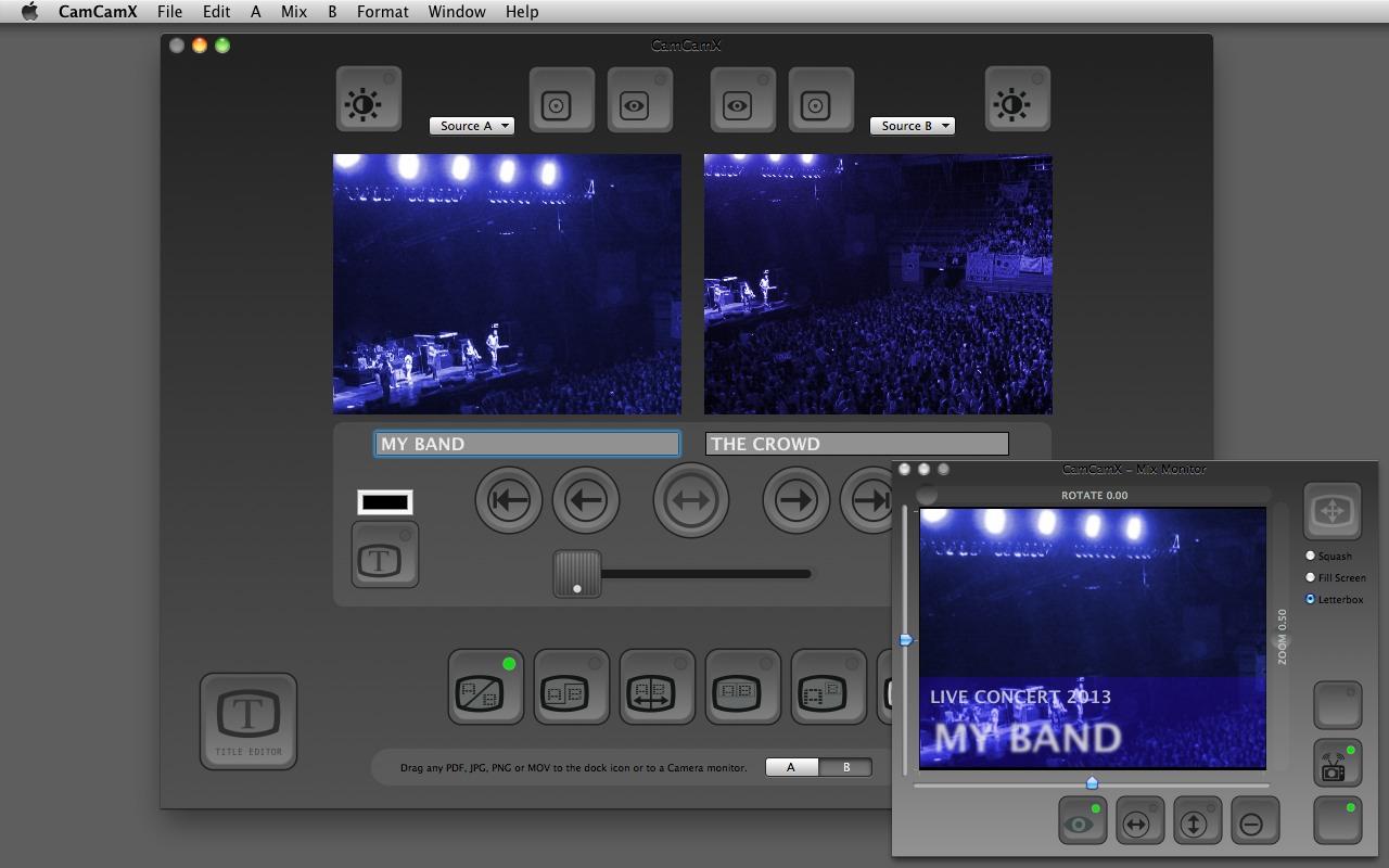 CamCamX 2.0.5 Mac software screenshot