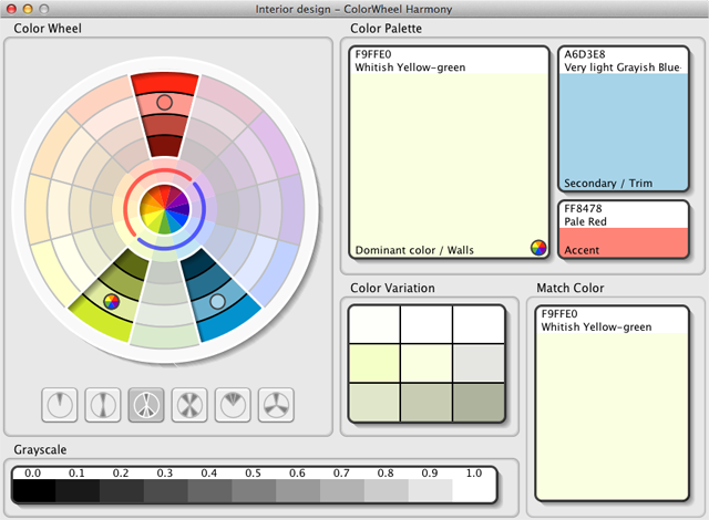 ColorWheel Harmony 1.2.0 Mac software screenshot