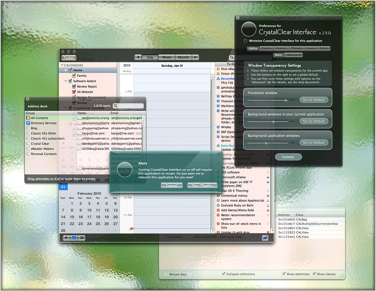 CrystalClear 2.8.3 Mac software screenshot