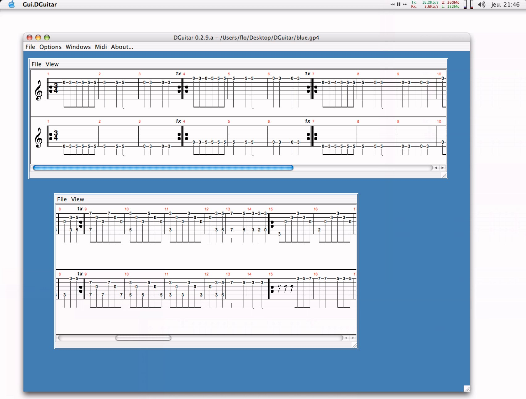 DGuitar 0.5.8 Mac software screenshot