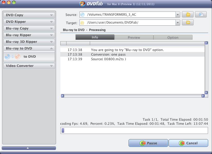 DVDFab 9.1.6.6 Mac software screenshot