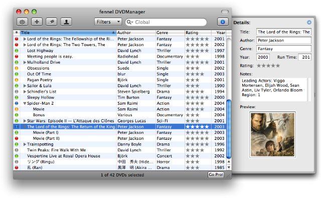 DVDManager Pro 2.1.7 Build 52 Mac software screenshot