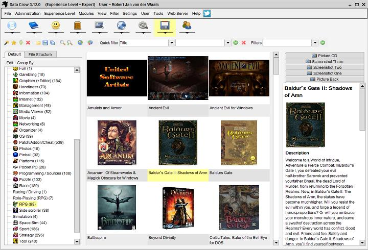 Data Crow 4.0.1 Mac software screenshot