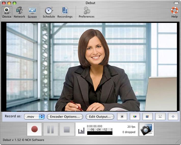 Debut Video Capture 2.02 Mac software screenshot