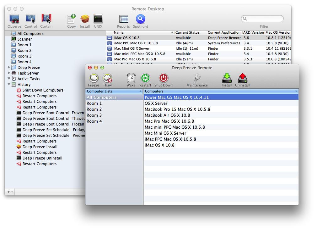 Deep Freeze 5.80.2200.0820 Mac software screenshot