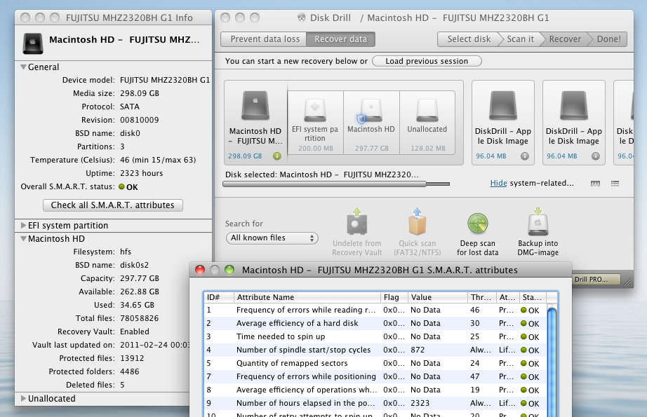 Disk Drill 2.0.356 Mac software screenshot