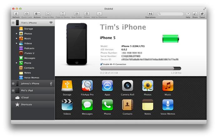 DiskAid 6.5.5 Mac software screenshot