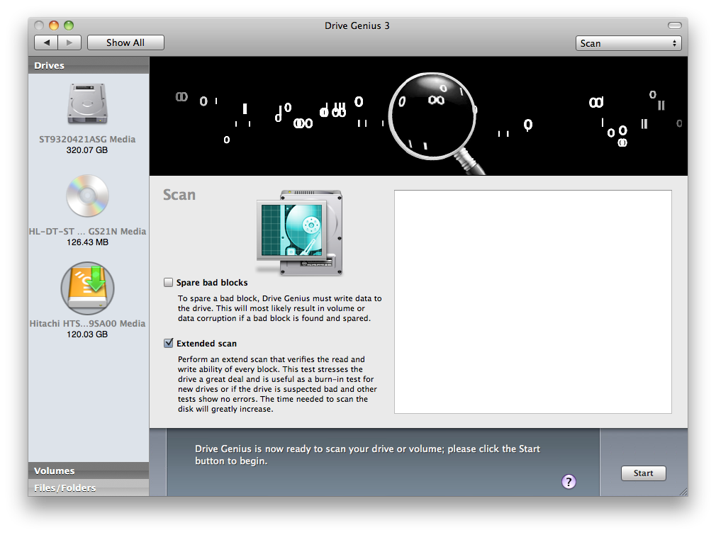Drive Genius 3.2.4 Mac software screenshot