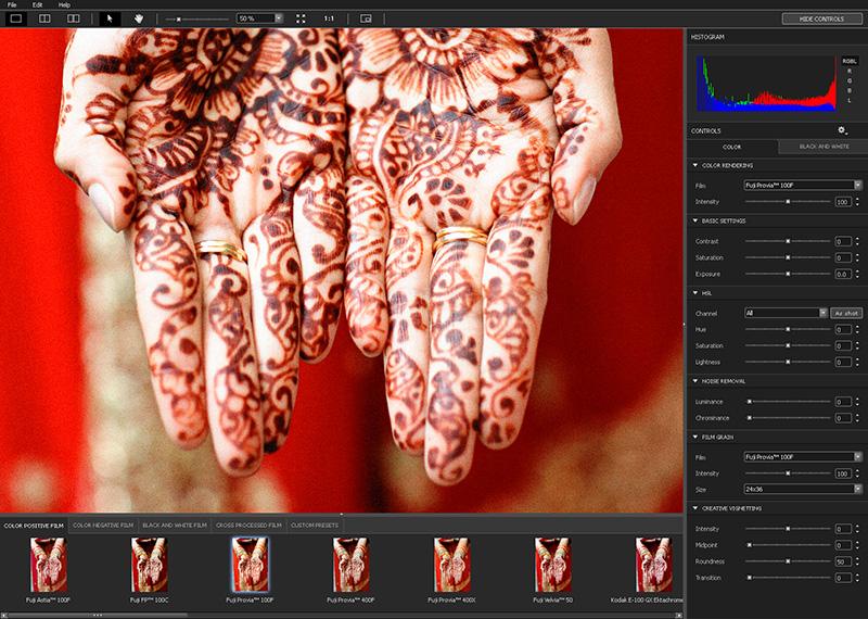 DxO FilmPack 3.2.3 Build 94 Mac software screenshot