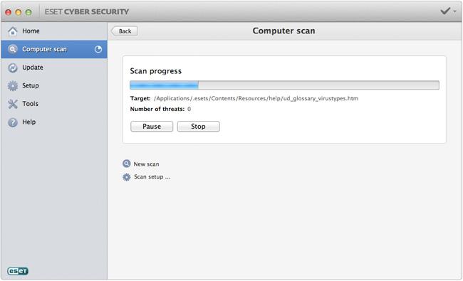 ESET Cyber Security 6.0.13.0 Mac software screenshot