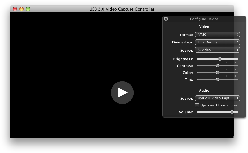 EasyCapViewer 0.6.2 Mac software screenshot