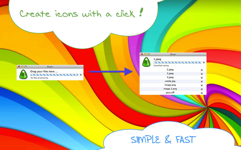 Eicon 1.0 Mac software screenshot